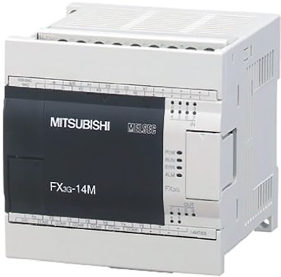 Логические модули FX3G-14MR-DS Mitsubishi FX3G Series Logic Module, 12 → 24 V dc, 8 x Input, 6 x Output Without Display