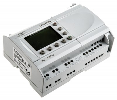 Логические модули AL2-14MR-A Mitsubishi Alpha 2 Logic Module, 100 → 240 V ac, 8 x Input, 6 x Output With Display